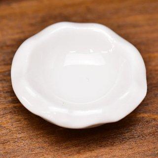 ミニチュア雑貨 陶器 Lサイズ [MMPP32] (セラミックボウル/カラー:ホワイト) 1/12スケール [m-s][imp]【ネコポス配送対応】【C】