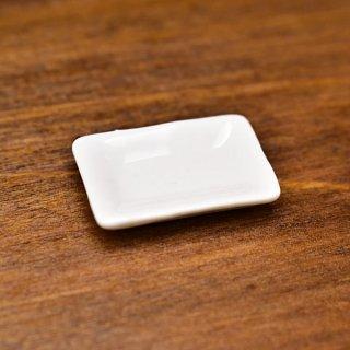ミニチュア雑貨 陶器 Sサイズ [SPLP9] (セラミックプレート:カラーホワイト) 1/12スケール [m-s][imp]【ネコポス配送対応】【C】