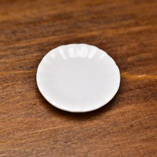 ミニチュア雑貨 陶器 Sサイズ [SPLP11] (セラミックプレート/カラー:ホワイト) 1/12スケール [m-s][imp]【ネコポス配送対応】【C】
