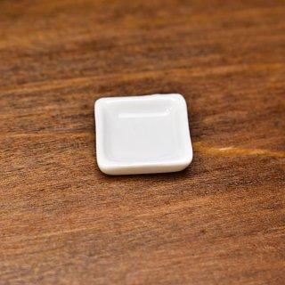 ミニチュア雑貨 陶器 Sサイズ [SPLP27] (セラミックプレート/カラー:ホワイト) 1/12スケール [m-s][imp]【ネコポス配送対応】【C】