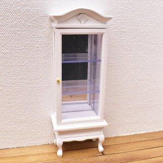 ミニチュア家具 ディスプレイタワー 背面鏡入り ホワイト [SADF77601] [m-s]【 ネコポス不可 】