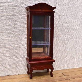 ミニチュア家具 ディスプレイタワー 背面鏡入り マホガニー [SADF76008] [m-s]【 ネコポス不可 】