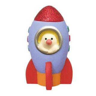 【ロケット文鳥 (ZCB-79355)】 DECOLE concombre デコレ コンコンブル 宇宙の旅猫 【 ネコポス不可 】【C】