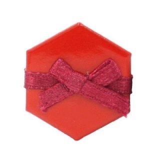 ミニチュア雑貨 赤い六角ボックス [B(Q-90)] [m-s] 【ネコポス配送対応】【C】