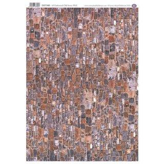 ミニチュア雑貨 【英国製】 【エンボス加工】 A3外壁用シート オールドストーン [SADIY798B] [m-s]【 ネコポス不可 】