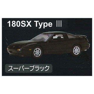 Cカークラフト 1/72スケール 日産シルビア(S13)&180SX編 [4.180SX Type III スーパーブラック]【ネコポス配送対応】【C】