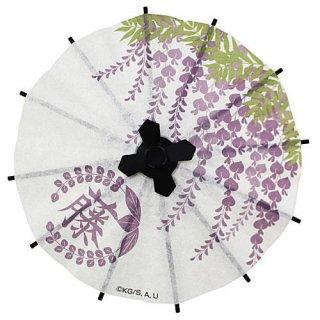 ガチャぶんのいちシリーズ 鬼滅の刃 和傘 [5.藤の花の家紋]【 ネコポス不可 】【C】