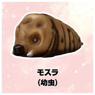 ゴジラ ソフビパペットマスコット [5.モスラ(幼虫)]【 ネコポス不可 】【C】
