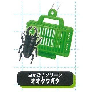 リアル!昆虫入り虫かごマスコットBC5 [5.虫かご/グリーン オオクワガタ]【 ネコポス不可 】【C】