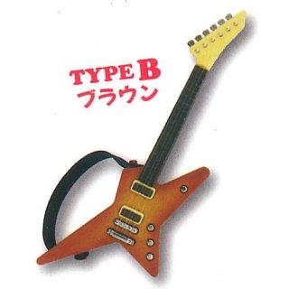 ミニチュアギターマスコット3 [2.TYPE B ブラウン]【ネコポス配送対応】【C】