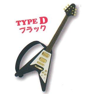 ミニチュアギターマスコット3 [4.TYPE D ブラック]【ネコポス配送対応】【C】