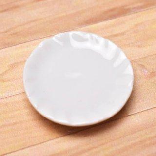 ミニチュアパーツ 陶器 Mサイズ [MPLP1] (セラミックプレート/カラー:ホワイト) [m-s][imp] 【ネコポス配送対応】【C】