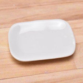 ミニチュアパーツ 陶器 Mサイズ [MPLP12] (セラミックプレート/カラー:ホワイト) [m-s][imp] 【ネコポス配送対応】【C】