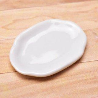 ミニチュアパーツ 陶器 Mサイズ [MPLP13] (セラミックプレート/カラー:ホワイト) [m-s][imp] 【ネコポス配送対応】【C】