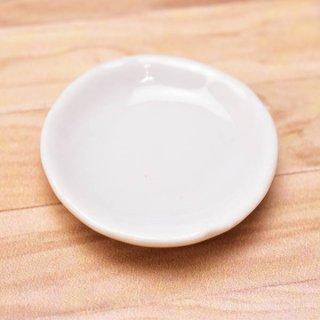 ミニチュアパーツ 陶器 Mサイズ [MPLP21] (セラミックプレート/カラー:ホワイト) [m-s][imp] 【ネコポス配送対応】【C】