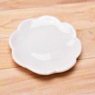 ミニチュアパーツ 陶器 Mサイズ [MPLP22] (セラミックプレート/カラー:ホワイト) [m-s][imp] 【ネコポス配送対応】【C】
