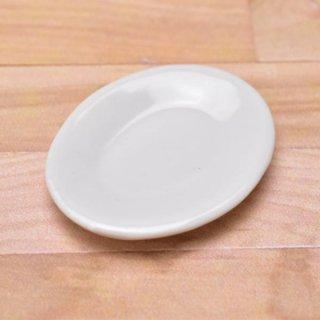 ミニチュアパーツ 陶器 Mサイズ [MPLP47] (セラミックプレート/カラー:ホワイト) [m-s][imp] 【ネコポス配送対応】【C】
