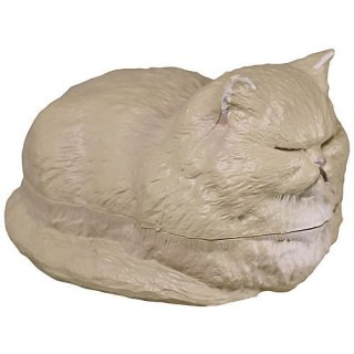 香箱座りの猫の小箱 その2 [5.ペルシャ(スモーク)]【 ネコポス不可 】【C】