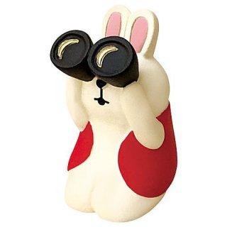 【双眼鏡うさぎ (ZTM-28017)】 DECOLE concombre デコレ コンコンブル お月見 満月だんらん 【 ネコポス不可 】【C】