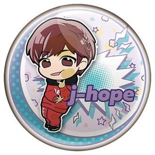 ぴた!でふぉめ TinyTAN 缶バッジ Magic Door [4.j-hope]【ネコポス配送対応】【C】