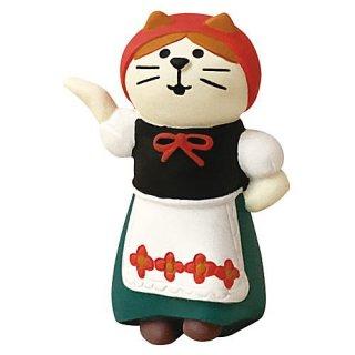 【フォークダンス猫 GIRL (ZHW-28880)】DECOLE concombre デコレ コンコンブル コンコンファーム ハロウィン収穫祭 【 ネコポス不可 】【C】
