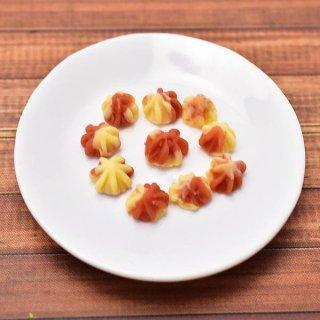 ミニチュアフード クッキー(8) 10個セット [COK8] [m-s] (1/12スケール) 【ネコポス配送対応】【C】