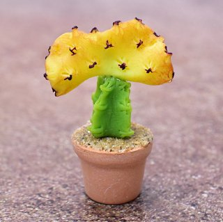 ミニチュアパーツ 鉢植えミニサボテン [CT21] (1/12スケール) [m-s]【ネコポス配送対応】【C】
