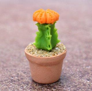 ミニチュアパーツ 鉢植えミニサボテン [CT22] (1/12スケール) [m-s]【ネコポス配送対応】【C】