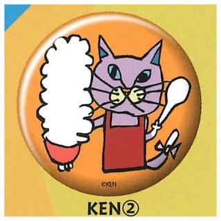 NEKO KEN 缶バッジ [2.KEN (2)]【ネコポス配送対応】【C】