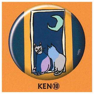 NEKO KEN 缶バッジ [10.KEN (10)]【ネコポス配送対応】【C】