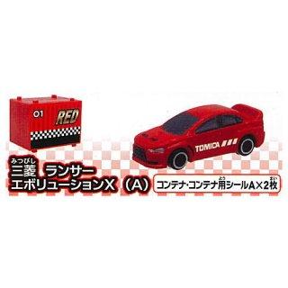 カプセルトミカDX16 レーシングコンボイトレーラー! [1.三菱 ランサー エボリューションX (A)]【 ネコポス不可 】【C】