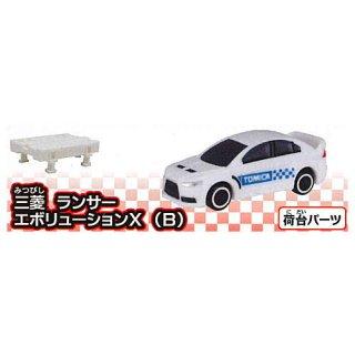 カプセルトミカDX16 レーシングコンボイトレーラー! [2.三菱 ランサー エボリューションX (B)]【ネコポス配送対応】 【C】