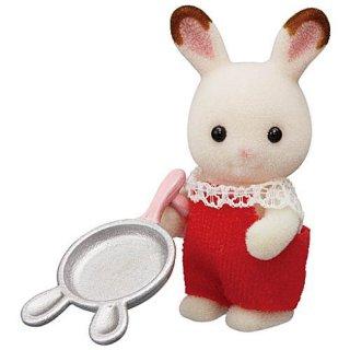 シルバニアファミリー BB-06 赤ちゃんコレクション 赤ちゃんキャンプシリーズ [1.ショコラウサギの赤ちゃんとフライパン]【ネコポス配送対応】【C】