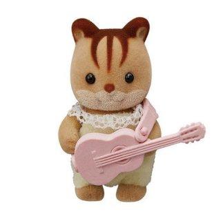 シルバニアファミリー BB-06 赤ちゃんコレクション 赤ちゃんキャンプシリーズ [3.くるみリスの赤ちゃんとギター]【ネコポス配送対応】【C】
