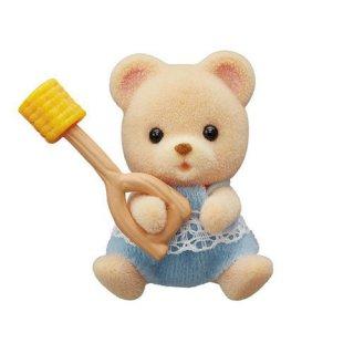 シルバニアファミリー BB-06 赤ちゃんコレクション 赤ちゃんキャンプシリーズ [4.クマの赤ちゃんとトウモロコシ]【ネコポス配送対応】【C】