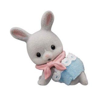 シルバニアファミリー BB-06 赤ちゃんコレクション 赤ちゃんキャンプシリーズ [7.わたウサギの赤ちゃんとバンダナ]【ネコポス配送対応】【C】
