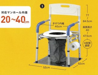 災害用マンホールトイレ 洋式タイプVE100