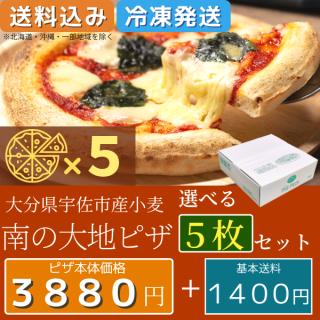 南の大地ピザ 選べる5枚セット