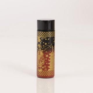 ポケットサイズボトル140ml 黒×赤/舞妓