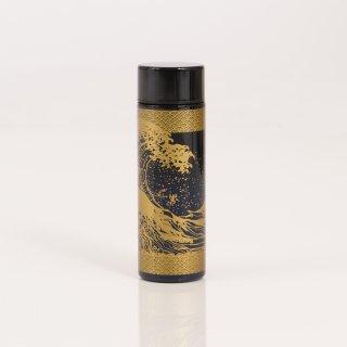 ポケットサイズボトル140ml 黒×紺/浪裏