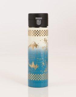 ワンプッシュボトル430ml 白×水色/富士