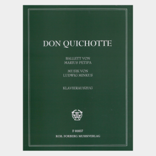 "Minkus : ""Don Quichotte"" Piano Score"