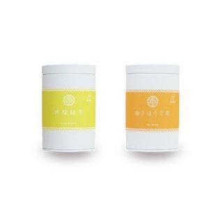 檸檬緑茶・柚子ほうじ茶 缶2本セット