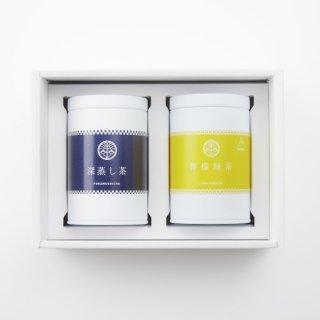深蒸し茶・檸檬緑茶 缶2本セット