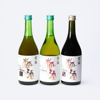 特別価格 宝梅 梅酒 3本セット(梅酒、黒糖梅酒、にごり梅酒)LKN-51