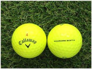 【ランク S級 】 キャロウェイ CHROME・SOFT 2018年モデル イエロー 1球 (07-02-03-20-S-001)