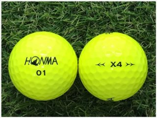【ランク B級 】 HONMA X4 2019年モデル イエロー 1球 (12-03-14-20-B-001)