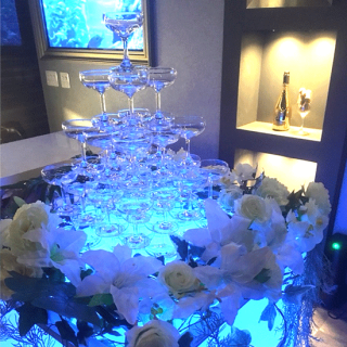 豪華シャンパンタワー 5段 四角