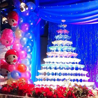 豪華シャンパンタワー+バルーン装飾