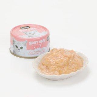 【プルプルのミルクに絡まってとろける食感!】キットキャット ゴートミルク ツナ&サーモン70g